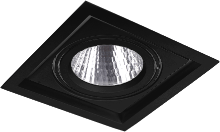 Pragmalux LED Inbouwspot Squadro 1V Zwart Ø215x215 Buitenmaat - Gatmaat Ø205x195