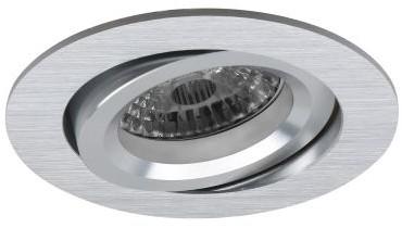 Pragmalux Inbouwspot Aura Rond Kantelbaar aluminium - Incl. GU10 Fitting