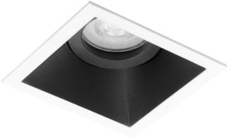 Pragmalux Inbouwspot Zena Vierkant Kantelbaar Wit/Zwart - Incl. GU10 Fitting