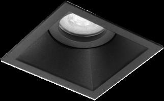 Pragmalux Inbouwspot Zena Vierkant Kantelbaar Zwart - Incl. GU10 Fitting
