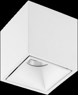 Pragmalux LED Opbouwspot Cubo 1V 15,5W 3000K CRI>90 36D 1001lm Wit/Wit Ø91x91 Buitenmaat - Hoogte Ø100 - Dimbaar