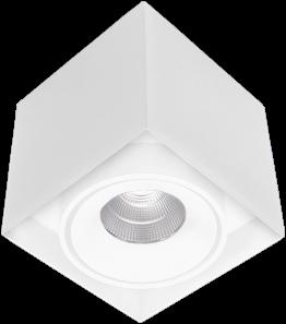Pragmalux LED Opbouwspot Kaja 1V 11W 4000K CRI>93 38° 850lm Ø100x100 Buitenmaat - Hoogte Ø100 Wit - Dimbaar