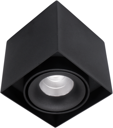 Pragmalux LED Opbouwspot Kaja 1V 11W 2700K CRI>93 38° 660lm Ø100x100 Buitenmaat - Hoogte Ø100 Zwart - Dimbaar