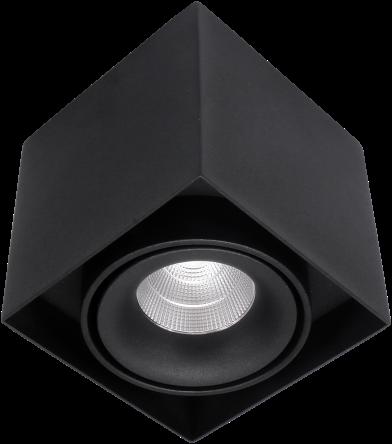 Pragmalux LED Opbouwspot Kaja 1V 11W 4000K CRI>93 38° 850lm Ø100x100 Buitenmaat - Hoogte Ø100 Zwart - Dimbaar
