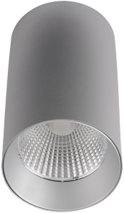 Pragmalux LED Opbouwspot Penda 20W 3000K CRI>95 40D 1350lm Grijs/Grijs Ø85 Buitenmaat - Hoogte Ø154 - Dimbaar