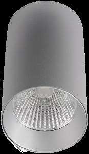 Pragmalux LED Opbouwspot Penda 20W 4000K CRI>95 40D 1400lm Grijs/Grijs Ø85 Buitenmaat - Hoogte Ø154 - Dimbaar