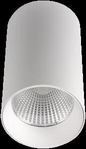 Pragmalux LED Opbouwspot Penda 20W 4000K CRI>95 40D 1400lm Wit/Wit Ø85 Buitenmaat - Hoogte Ø154 - Dimbaar