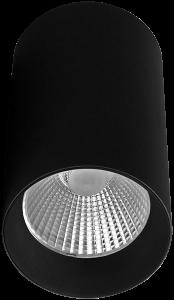 Pragmalux LED Opbouwspot Penda 20W 3000K CRI>95 40D 1350lm Zwart/Zwart Ø85 Buitenmaat - Hoogte Ø154 - Dimbaar