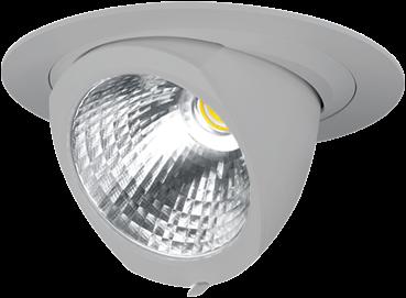 Pragmalux LED Richtspot Adjusto 42W 3000K CRI>80 36° 6050lm Ø205 Buitenmaat - Gatmaat Ø190 Grijs