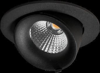 Pragmalux LED Richtspot Adjusto Mini 12W 2700K CRI>95 38D 700lm Zwart Ø95 Buitenmaat - Gatmaat Ø80 - Dimbaar