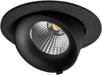 Pragmalux LED Richtspot Adjusto Mini 12W 4000K CRI>95 38D 820lm Zwart Ø95 F - G Ø80