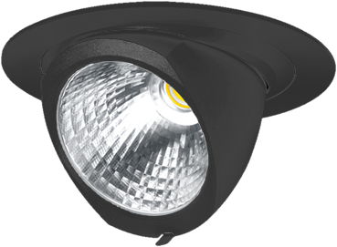 Pragmalux LED Richtspot Adjusto 24W 3000K CRI>80 36° 3700lm Ø205 Buitenmaat - Gatmaat Ø190 Zwart