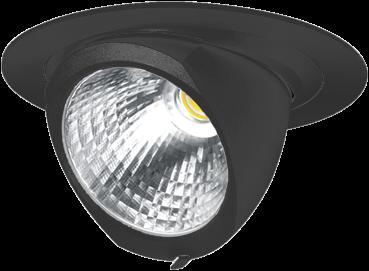 Pragmalux LED Richtspot Adjusto 42W 3000K CRI>80 36° 6050lm Ø205 Buitenmaat - Gatmaat Ø190 Zwart