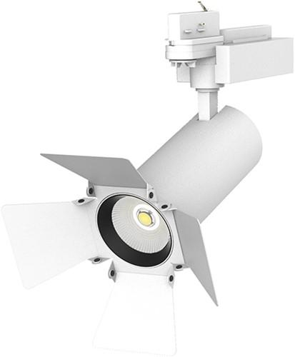 Pragmalux LED 3-Fase Railspot Allure Barn Door accessoire wit