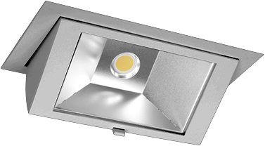 Pragmalux LED Wallwasher Projecto 42W 3000K CRI>80 70x75° 6050lm Ø238x145 Buitenmaat - Gatmaat Ø225x135 Grijs