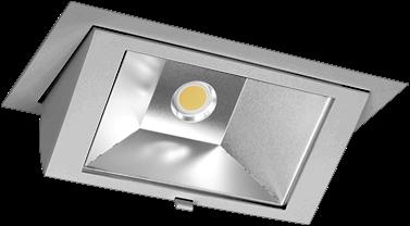 Pragmalux LED Wallwasher Projecto 42W 4000K CRI>80 70x75° 6400lm Ø238x145 Buitenmaat - Gatmaat Ø225x135 Grijs