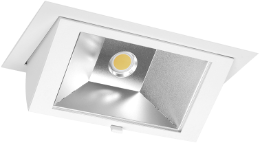 Pragmalux LED Wallwasher Projecto 42W 4000K CRI>80 70x75° 6400lm Ø238x145 Buitenmaat - Gatmaat Ø225x135 Wit