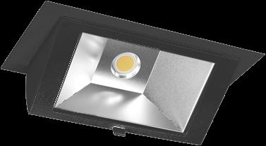 Pragmalux LED Wallwasher Projecto 42W 4000K CRI>80 70x75° 6400lm Ø238x145 Buitenmaat - Gatmaat Ø225x135 Zwart