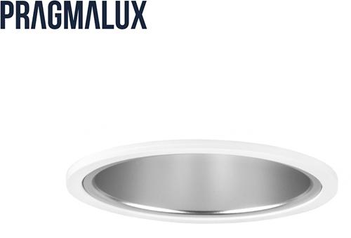 Pragmalux LED Downlight Mado 120 Mat IP44 13W 3000K 1390lm Ø120 Buitenmaat - Gatmaat Ø110