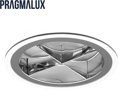 Pragmalux LED Downlight Mado 195 Kruis rooster IP44 39W 3000K 3960lm Ø195 Buitenmaat - Gatmaat Ø180 UGR<17