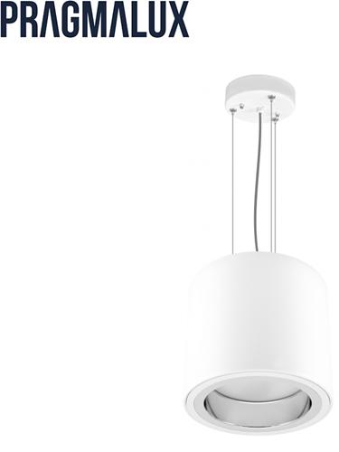 Pragmalux LED Pendel Downlight Mado 205 Mat IP40 12W 3000K 1545lm Ø205 Buitenmaat - Hoogte Ø190 UGR<18
