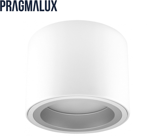 Pragmalux LED Opbouw Downlight Mado 130 Mat IP40 9W 3000K 1025lm Ø130 Buitenmaat - Hoogte Ø140