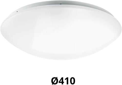 Pragmalux LED Plafonnière / Wandarmatuur Polo G2 IP44 22W 3000K-4000K-6000K 3-CCT 1950-2150lm Ø410 (1x32W)