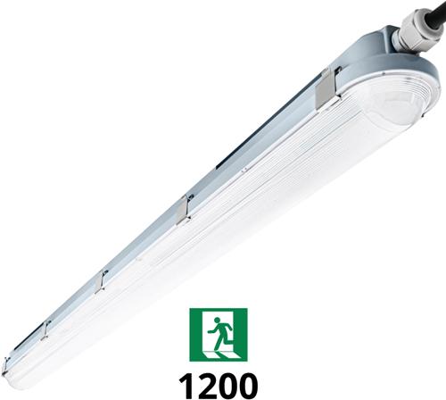 Pragmalux LED TL Waterdicht Armatuur Hermes IP66 120cm 35W 4000K 5100lm (2x36W) + Noodverlichting