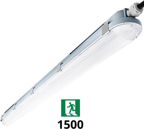Pragmalux LED TL Waterdicht Armatuur Hermes IP66 150cm 24-42W 4000K 3750-6100lm (2x58W) + Noodverlichting