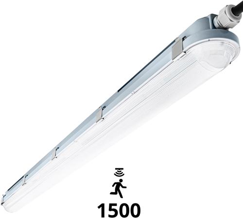 Pragmalux LED TL Waterdicht Armatuur Hermes IP66 150cm 42W 4000K 6100lm (2x58W) + Bewegingssensor