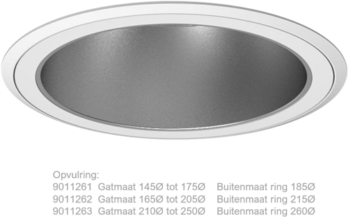 Pragmalux LED Downlight Comforti Opvulring Ø165 - Ø185