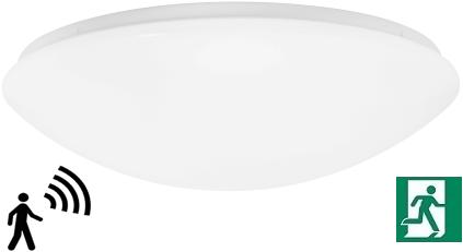 Pragmalux LED Plafonnière / Wandarmatuur Polo IP44 18W 3000K Ø360 +Bewegingssensor EMI1S