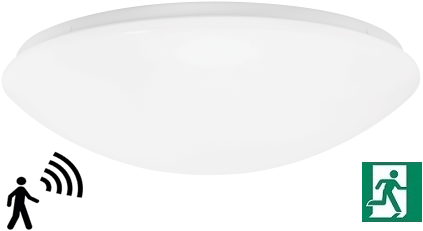 Pragmalux LED Plafonnière / Wandarmatuur Polo IP44 18W 4000K Ø360 +Bewegingssensor EMI1A