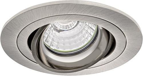 Pragmalux Inbouwspot Alpha Rond Kantelbaar nikkel - Incl. GU10 Fitting