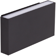 Berla LED Wandlamp Buiten & Binnen Up/down IP54 BE0004 10W 2700K Rechthoek zwart - dimbaar
