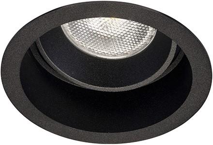 Berla LED Inbouwspot IP20 Rond Verdiept Kantelbaar BR0004B GU10 zwart