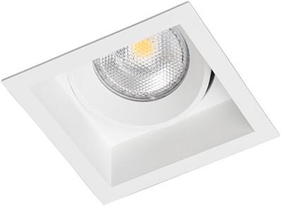Berla LED Inbouwspot vierkant BR0005B Verdiept Kantelbaar GU10 wit - excl. Lamp
