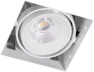 Berla LED Inbouwspot Cardanisch Trimless BR0021 Kantelbaar 7W 2700K CRI>90 36D 600lm Wit Ø90,5x90,5 Buitenmaat - Gatmaat Ø95x95 - Dimbaar