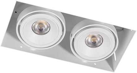 Berla LED Inbouwspot Cardanisch Trimless BR0022 Kantelbaar 2x7W 2700K CRI>90 36D 1200lm Wit Ø90,5x183 Buitenmaat - Gatmaat Ø95x187 - Dimbaar