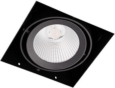 Berla LED Inbouwspot Cardanisch Trimless CRI90+ BR0025 Kantelbaar 15W 2700K 36D zwart - dimbaar