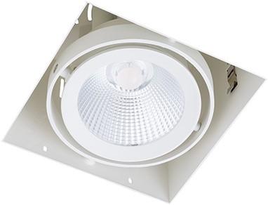 Berla LED Inbouwspot Cardanisch Trimless CRI90+ BR0025 Kantelbaar 15W 2700K 36D wit - dimbaar