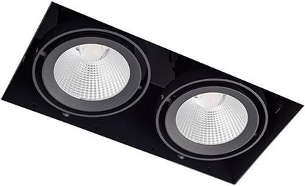 Berla LED Inbouwspot Cardanisch Trimless CRI90+ BR0026 Kantelbaar 2x15W 2700K 36D zwart - dimbaar
