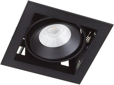 Berla LED Inbouwspot Cardanisch BR0031B Kantelbaar 7W 36D 2700K zwart - dimbaar