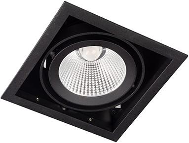 Berla LED Inbouwspot Cardanisch BR0035B Kantelbaar 15W 36D 2700K zwart - dimbaar
