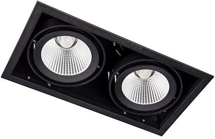 Berla LED Inbouwspot Cardanisch BR0036B Kantelbaar 2x15W36D 2700K zwart - dimbaar