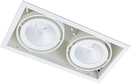 Berla LED Inbouwspot Cardanisch BR0036W Kantelbaar 2x15W 36D 2700K wit - dimbaar