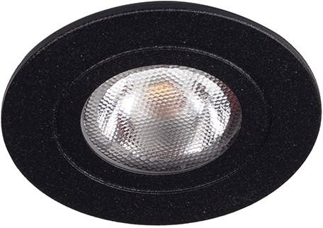 Berla LED Inbouwspot IP44 Rond BR0041Z 2.2W 2700K zwart 40D - excl. Driver