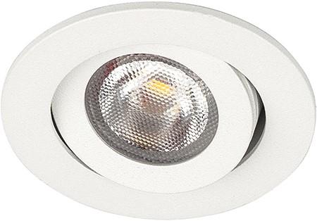 Berla LED Inbouwspot IP44 Rond BR0042W Kantelbaar 2.2W 260lm 2700K wit 40D - excl. Driver