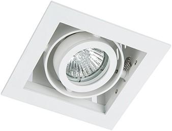 Berla LED Inbouwspot Cardanisch vierkant BR1001WW Kantelbaar GU10 wit