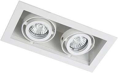 Berla LED Inbouwspot Cardanisch vierkant BR1002WW Kantelbaar 2xGU10 wit